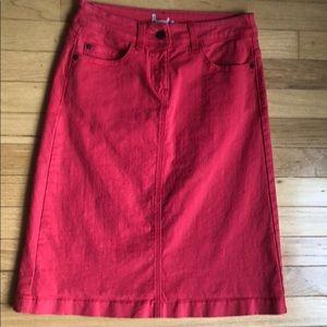 Boden Jean skirt.